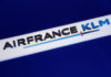 © Reuters. The Air France-KLM company logo is seen during the company