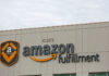© Reuters. Logo of the Amazon fulfillment is seen outside the Amazon fulfillment center in Kent