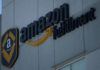 © Reuters. FILE PHOTO: A view of the Amazon fulfillment logo in Mexico City