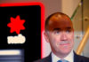 © Reuters. FILE PHOTO: National Australia Bank (NAB) CEO Andrew Thorburn poses for photographs during an official event at a branch in central Sydney