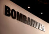 © Reuters. FILE PHOTO: A Bombardier logo is pictured during EBACE in Geneva