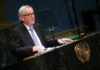 © Reuters. European Commission President Jean-Claude Juncker speaks at the Nelson Mandela Peace Summit during the 73rd United Nations General Assembly in New York