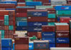 © Reuters. FILE PHOTO: Shipping containers are seen at a port in Shanghai