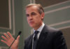 © Reuters. Mark Carney, the Governor of the Bank of England, speaks in New York