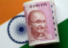 © Reuters. FILE PHOTO: Illustration photo of an India Rupee note