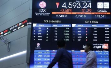© Reuters.  Indonesia stocks lower at close of trade; IDX Composite Index down 0.51%