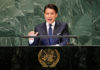 © Reuters. FILE PHOTO: Italian Prime Minister Giuseppe Conte addresses the United Nations General Assembly in New York