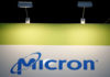 © Reuters. FILE PHOTO: The logo of U.S. memory chip maker MicronTechnology is pictured at their booth at an industrial fair in Frankfurt