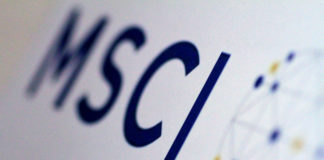 © Reuters. Illustration photo of the MSCI logo