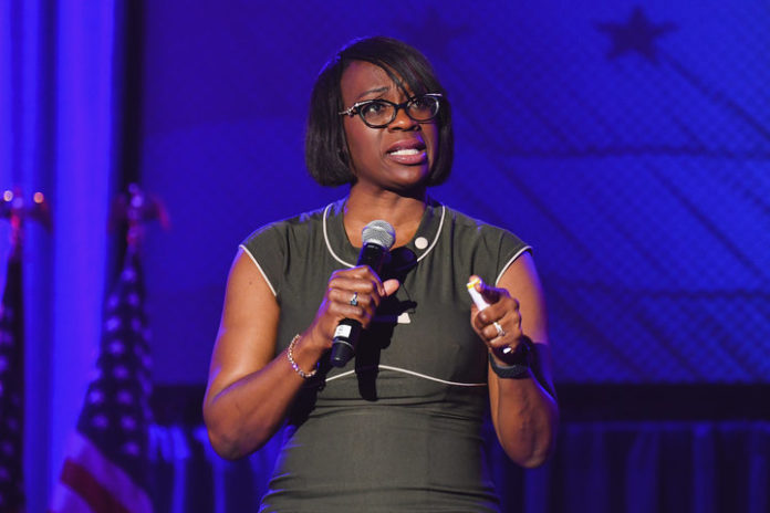 "Nina Turner, president of Our Revolution, is one of more than 70 progressive leaders who signed a pledge to fight for ""good j"