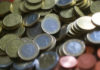 © Reuters. An illustration picture shows euro coins