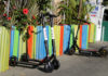 © Reuters. FILE PHOTO: Bird scooters are seen outside a restaurant in Santa Monica