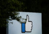 © Reuters. The entrance sign to Facebook headquarters is seen in Menlo Park