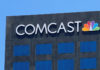 © Reuters. The Comcast NBC logo is shown on a building in Los Angeles, California