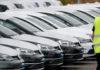 © Reuters. FILE PHOTO: New Volkswagen cars are seen at the Berlin Brandenburg international airport Willy Brandt (BER) in Schoenefeld