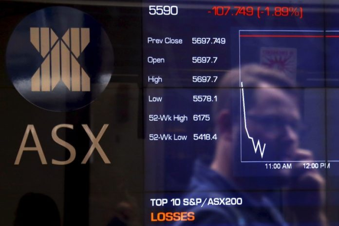 © Reuters.  Australia stocks higher at close of trade; S&P/ASX 200 up 0.14%