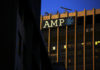 © Reuters. The logo of AMP Ltd, Australia