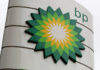 © Reuters. FILE PHOTO: A BP logo is seen on a petrol station in London