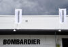 © Reuters. A Bombardier trade pavilion is seen at Farnborough International Airshow in Farnborough, Britain