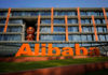 © Reuters. FILE PHOTO: The logo of Alibaba Group is seen at the company