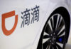 © Reuters. FILE PHOTO:  Didi ride hailing app logo is seen at IEEV New Energy Vehicles Exhibition in Beijing