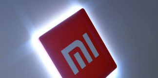 © Reuters. Xiaomi branding is seen at a UK launch event in London
