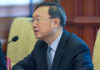 © Reuters. FILE PHOTO - Chinese State Councilor Yang Jiechi speaks during a meeting at the Diaoyutai state guesthouse in