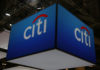© Reuters. FILE PHOTO - The Citigroup Inc logo is seen at the SIBOS banking and financial conference in Toronto