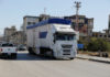 © Reuters. A Syrian truck drives in Bekaa
