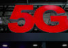 © Reuters. FILE PHOTO - A 5G sign is seen during the Mobile World Congress in Barcelona
