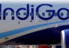 © Reuters. The logo of IndiGo Airlines is pictured on passenger aircraft on the tarmac in Colomiers near Toulouse