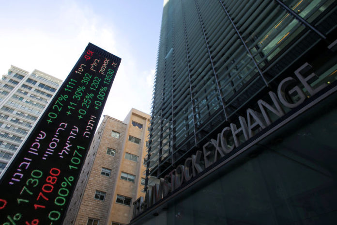 © Reuters.  Israel stocks lower at close of trade; TA 35 down 0.58%