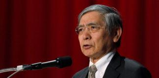 © Reuters. FILE PHOTO:  BOJ Governor Kuroda attends the Paris Europlace International Financial Forum in Tokyo