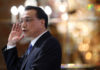 © Reuters. Chinese Premier Li Keqiang speaks at the 44th Singapore Lecture in Singapore