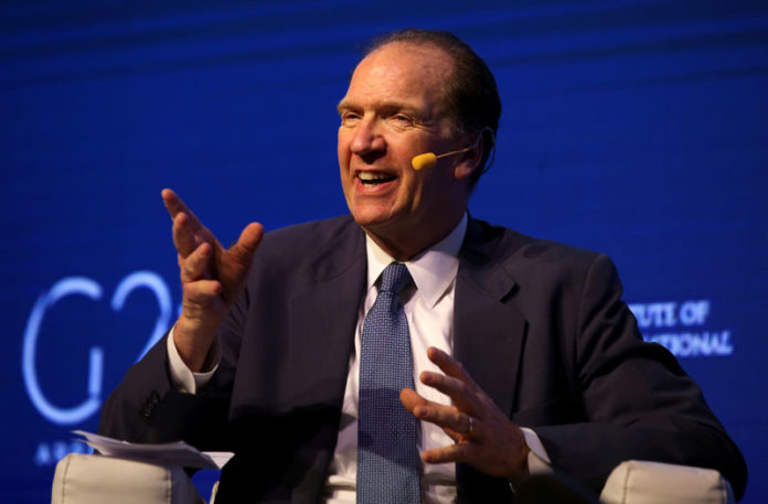 © Reuters. FILE PHOTO:  David Malpass, Under Secretary for International Affairs at the U.S. Department of the Treasury, gestures during the 2018 G20 Conference in Buenos Aires