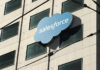 © Reuters. FILE PHOTO: The Salesforce logo is pictured on a building in San Francisco