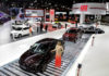 © Reuters. Cars are displayed during the Salao do Automovel International Auto Show in Sao Paulo