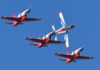 © Reuters. Red Falcon rehearses ahead of the Zhuhai Airshow