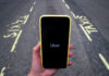 © Reuters. FILE PHOTO: The Uber application is seen on a mobile phone in London
