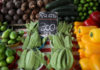 © Reuters. Food is displayed at a street market in Rio de Janeiro