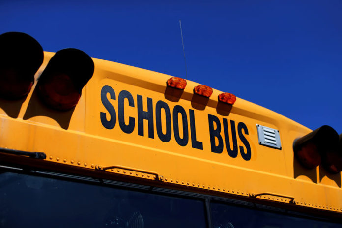 © Reuters. FILE PHOTO: A school bus is shown in Rancho Bernardo, California