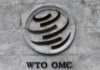 © Reuters. FILE PHOTO: A WTO logo is pictured on their headquarters in Geneva
