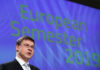 © Reuters. European Commission Vice-President Valdis Dombrovskis attends a news conference in Brussels