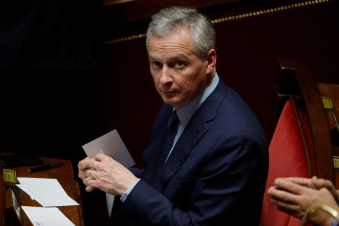 © Reuters. French Finance Minister Bruno Le Maire attends the questions to the government session at the National Assembly in Paris