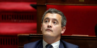 © Reuters. Gerald Darmanin, French Minister of Public Action and Accounts, attends the questions to the government session at the National Assembly in Paris
