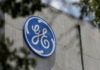 © Reuters. Logo of General Electric Co. is pictured at the Global Operations Center in San Pedro Garza Garcia