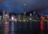 © Reuters. FILE PHOTO: A sunset view of Hong Kong island and Victoria Harbour in Hong Kong