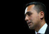 © Reuters. FILE PHOTO: Italian Minister of Labor and Industry Luigi Di Maio speaks at the Italian Business Association Confcommercio meeting in Rome