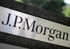 © Reuters. FILE PHOTO: The logo of Dow Jones Industrial Average stock market index listed company JPMorgan Chase (JPM) is seen in Los Angeles