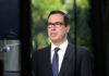 © Reuters. Mnuchin speaks at the White House in Washington